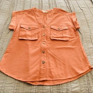 Entro Small Burnt Orange Top with Pockets